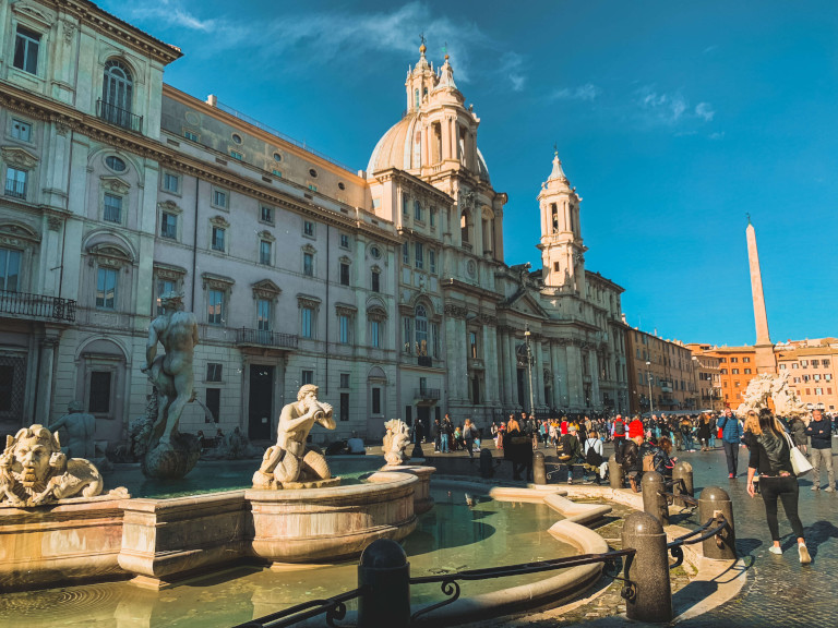 Una delle fontane di Piazza Navona