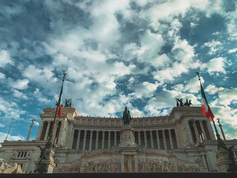 Il Vittoriano, in Piazza Venezia