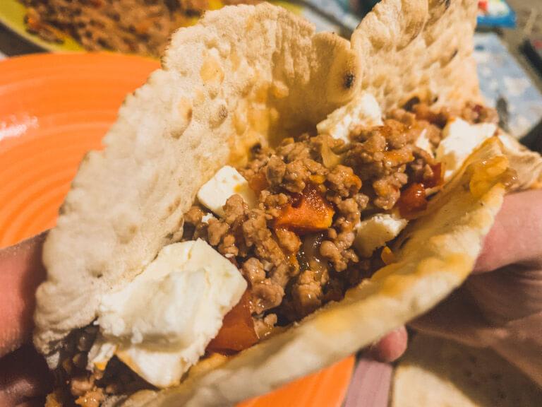 Tacos senza glutine fatti in casa farciti