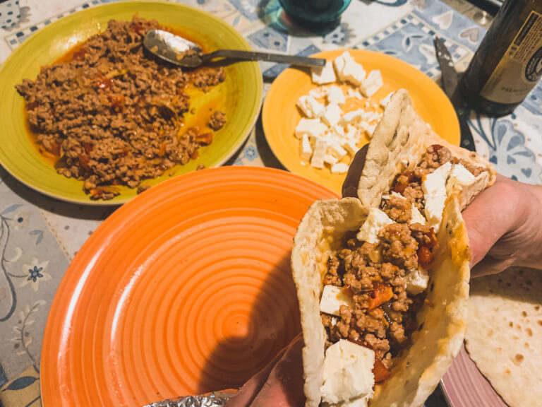 Tacos senza glutine farcito