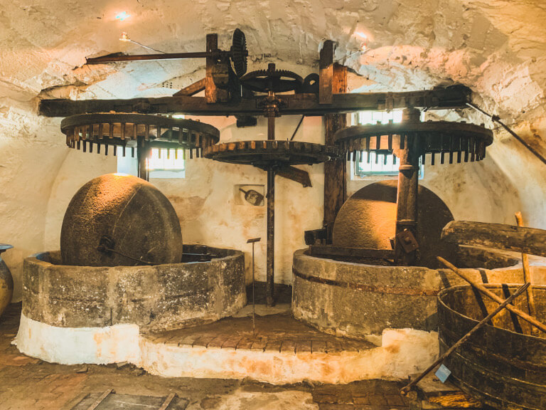 Il museo Frantoio dell'Agriturismo l'Adagio di Badalucco